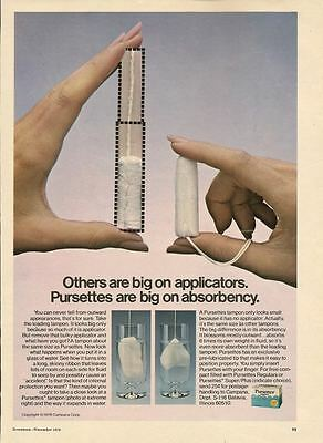 Pursettes Tampons 1976 Magazine - Print Ad