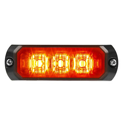 Federal signal micro pulse 3 amber new with 5 year warranty