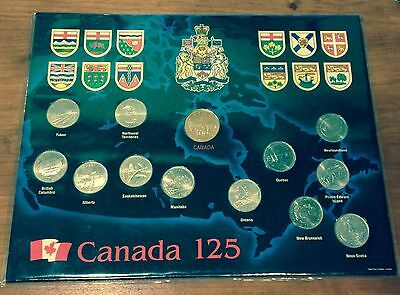 1992 125th Anniversary Canada 25 Cent Coin Collectors Set - IMMACULATE