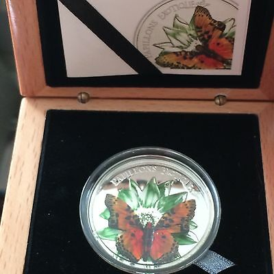 2011 cameroon 3d butterfly papillons exotique silver coin