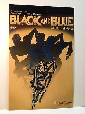 Black And Blue Musical Theatre Broadway Play Poster Original