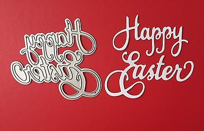 NEW• Happy Easter Script Words Die For Cuttlebug Or Sizzix
