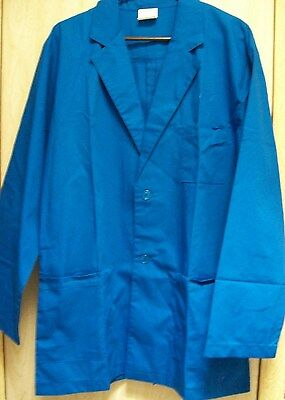 "New! Bright Blue Lab Coat/jacket ""image First""~Mens Med~Long Sleeve"