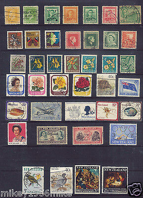 British Commonwealth New Zealand nice selection  40 stamps used LOT A9