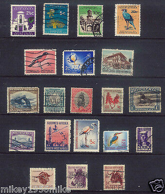 British Commonwealth South Africa 20 stamps VINTAGE LOT Used good condition A14