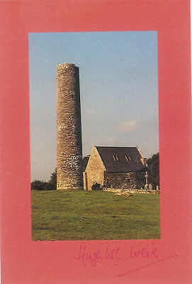 Postcard Round Tower Inis Cealtra Lough Derg River Shannon Co Clare IRELAND B31