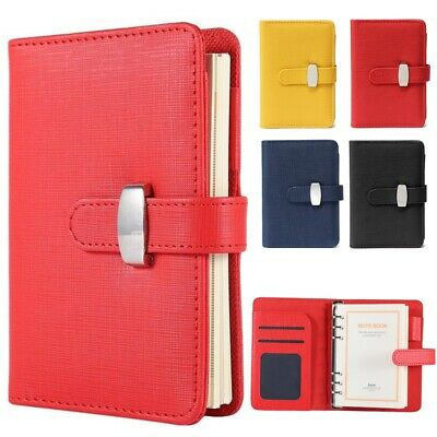 3 Size Diary Notebook Personal Pocket Organiser Planner PU Leather Filofax Cover