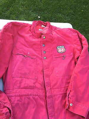 Vtg 60's LEE Union Made Phillips 66 Gas Station Insulated Denim Coveralls Lg