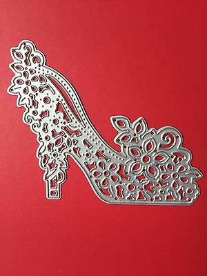 NEW• Pretty Floral Lace Ladies High Heel Shoe Die For Cuttlebug Or Sizzix