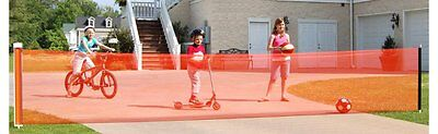 Kids Driveway Guard Child Safety Retractable Net Tricycle Car Barrier Yard Fence