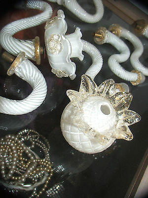 "Large Lot Of Vintage Murano ""gold Dust"" Chandelier Parts As Shown"