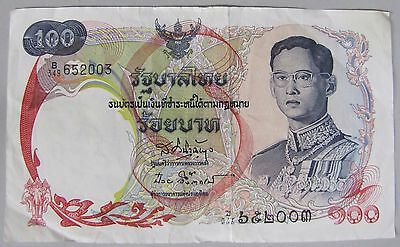 1968 Thailand 100 Baht Currency Note, Crisp VF.