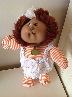 Cabbage Patch Koosa - Stripy Cat With Collar And Apron