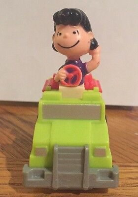 RARE Vintage 1966 Peanuts Lucy Friction Toy Fire Truck- HTF
