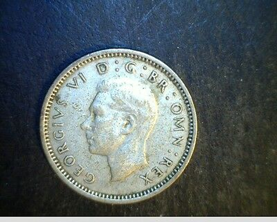 1944 Great Britian, 3 Pence, High Grade .0227 oz Silver  Coin (UK-146)