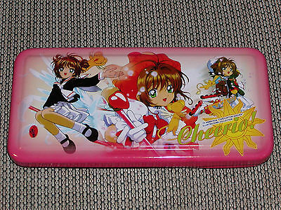 Card Captor Sakura Metal Pencil  Box - pen case holder tin pouch bag CLAMP