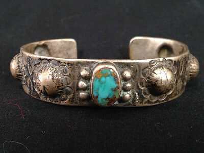 Private Collection Ca..1920's  NATIVE AMERICAN INGOT HANDFORGED SILVER BRACELET.