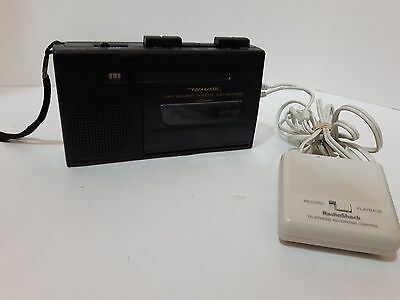Vintage Radio Shack Realistic CTR-76 Cassette Recorder With Telephone recording
