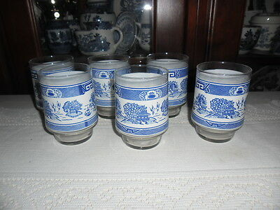 Blue Willow Glasses Set Of 6