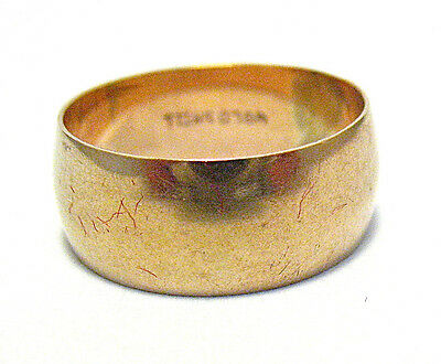 VICTORIAN GOLD FILLED ETERNITY RING BAND SIZE 6.75 7 mm wide 3.2 NO PATTERN