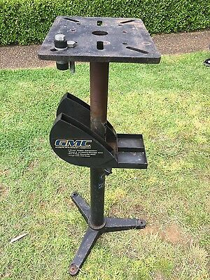 Adjustable Height Bench Grinder stand. Cast iron base. RRP - $209