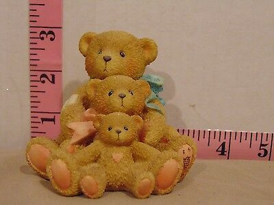1991 Cherished Teddies Theadore Samantha & Tyler Friends Comes In All Sizes