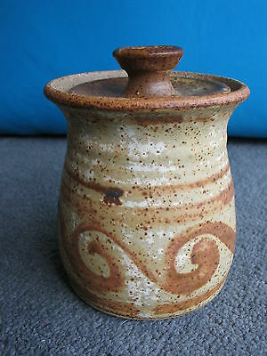 Stoneware Jam pot Black Mountain Studio Pottery Wales