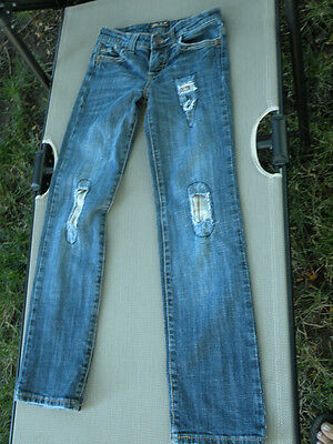 Bu Jeans  from Malibu distressed blue low rise size 10 youth 27 inseam
