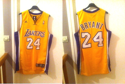Maillot KOBE BRYANT 24 LAKERS ADIDAS (TAILLE S)