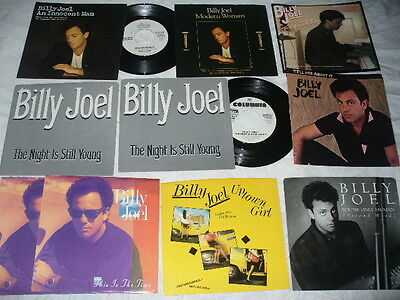 Billy Joel 2 Promo 45s + 10 Promo Sleeves Uptown Girl / Tell Her About It