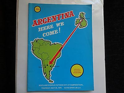 1978 Argentina here we come programme.