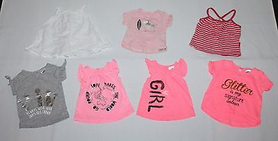 * 0000 7 x BABY Girls Clothes Summer Short Sleeve Tops Shirts - COMBINED POST *