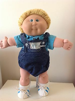 Cabbage Patch 1983 Coleco Boy Wheat Loop Hair & Green Eyes