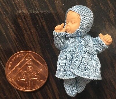 Miniature Dolls House Hand Made Baby