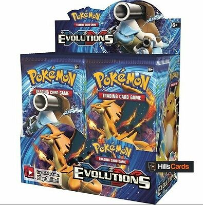 Pokemon XY TCG Evolutions Sealed Booster Box 17 Pcs New Trading Cards