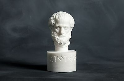 Bust of philosopher Aristotle carved Greek marble statue figurine sculpture