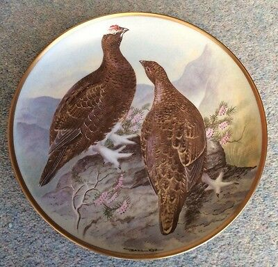 """BASIL EDE- GAME BIRDS OF THE WORLD - Red Grouse - 9"""" - France"""