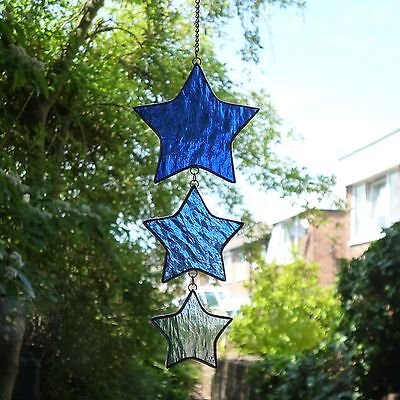 Stained Glass Stardrop Suncatcher / Mobile x 1 Brand New