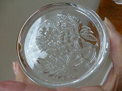 Dartington Glass Impressed Pattern Crystal Wine Bottle Coaster