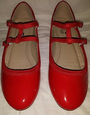 BNWOT red retro vintage quirky t bar pumps / Size 7