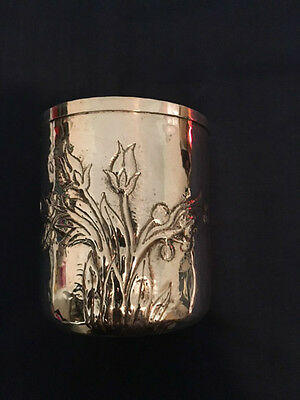 Antique Italian Hand Made Silver 800 Cup