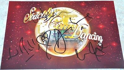 """Multi Signed 12"""" x 8"""" Photo Strictly Come Dancing Louise , Ed , Daisy & Judge"""