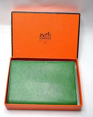 Hermes Hermès Leather Luxury Address Book Green Unused in Box Authentic