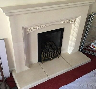 FIRE PLACE Stone SURROUND And Hearth