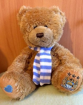 MCFC Collectable Cuddly Teddy Bear Wearing Man City Scarf