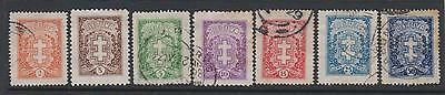Lithuania 1927 SG275-283  - set of 7  -  1  mounted mint 6 used - some toning