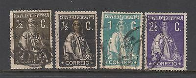 Portugal 1912-20 -  CERES - perf 15 x 14 - from SG463 - 4 used