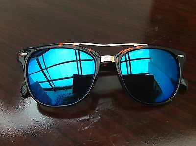 Foster Grant's Stylish Brown Animal Print sunglasses With Blue Mirror Lenses
