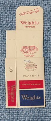 Old EMPTY cigarette packet  + slide Weights  red & blue version  #383