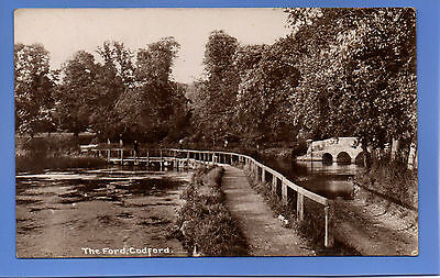 Old Vintage 1915 Rp Postcard The Ford Codford Wiltshire